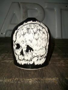 Mark Davis skull vase